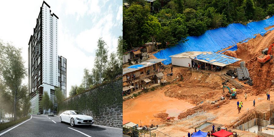 Tanjung Bungah landslide site was the very first case highlighted by Penang Hills Watch